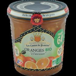 Confiture d'orange bio LES COMTES DE PROVENCE, 350g