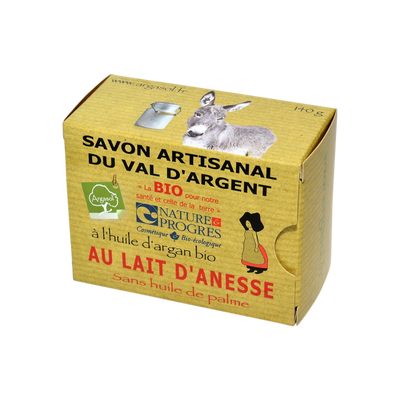 Savon artisanal BIO huile argan et lait ânesse ARGASOL, 140g