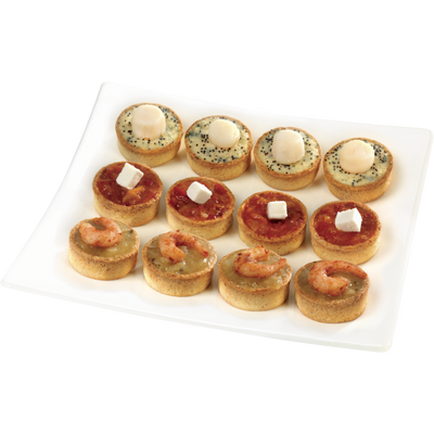 "Assortiment ""dégustation"" 12 mini tartes BIGARD, 180g"