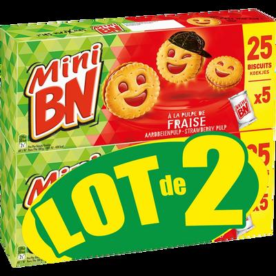 Mini BN fraise, pochons x2 350g