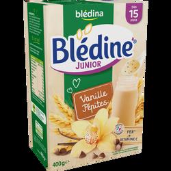 Lait Blédine junior saveur vanille pépite fondante BLEDINA, dès 15 mois, paquet de 400g