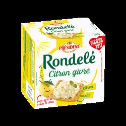 Rondelé citron et basilic lait pasteurisé PRÉSIDENT, 30% de MG, 125g