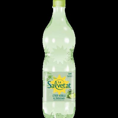 SALVETAT aromatisée citron verdelli, bouteille en plastique de  1,25L