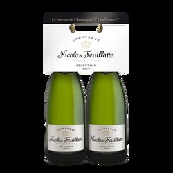 Champagne brut sélection NICOLAS FEUILLATTE, 2x75cl