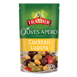 Olives apéro cocktail lupins TRAMIER, sachet 160g
