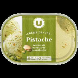 Bac crème glacée pistache U, 500g