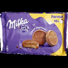 Biscuits choco suprême MILKA, x10, 300g