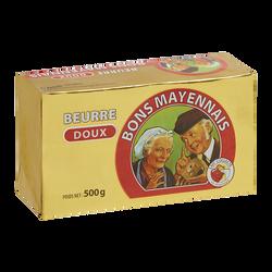 Beurre extra fin doux BONS MAYENNAIS, 82%MG, 500g