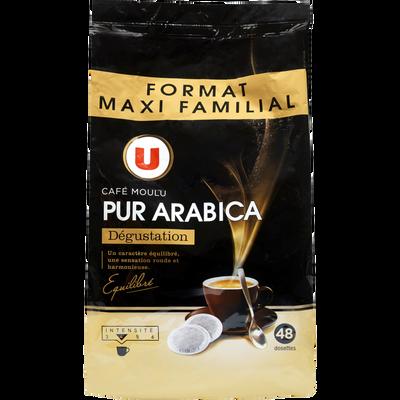 Café pur arabica dégustation U, 48 dosettes, 336g