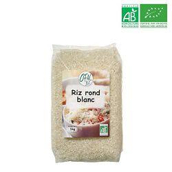 Riz rond blanc, OFAL BIO, le paquet de 1kg