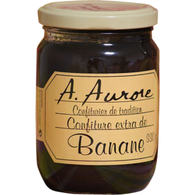 Confiture de banane AURORE MARTINIQUE, bocal de 330g