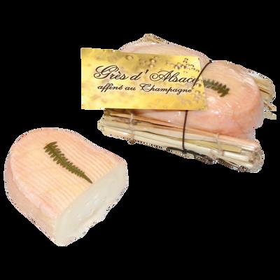 Petit grès d'Alsace au champagne lait pasteurisé 26% de MG, 125g