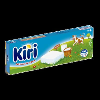 Fromage fondu au lait pasteurisé nature KIRI, 12 portions soit 240g