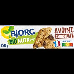 Biscuit avoine pépites de chocolat bio BJORG, 130g