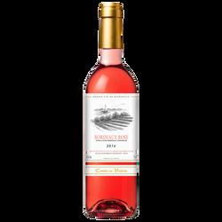Vin rosé AOP Bordeaux Comté de Valois, bouteille de 75cl