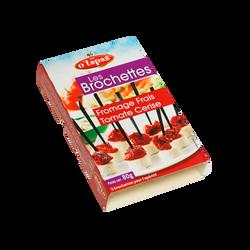 Brochettes aux tomates et fromage au lait pasteurisé 16% de matière grasse O'TAPAS, 80g