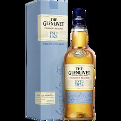Scotch Whisky single malt The Glenlivet Founder's réserve,40°, bouteille de 70cl + étui