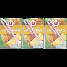 Jus à base de concentré d'ananas U, 6 briques de 20cl