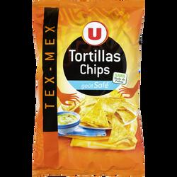 Tortilla chips goût salé U, paquet de 150g