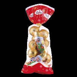Pères Noël + boules attachés or ROHAN, 250g