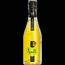 Pétillant de fruits pomme et citron fine bulles COEUR DE POM', bouteille de 75cl