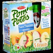 Materne Pom'potes 5 Fruits Jaunes Sans Sucre Ajouté Materne, 4x90g