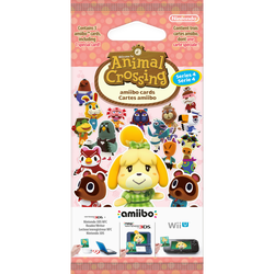 Pack de 3 cartes NINTENDO Animal crossing série 4