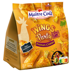 Wings party indian curry, MAITRE COQ, sac, 400g