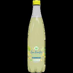 Eau fruité petillante au jus de citron / citron vert U 1L
