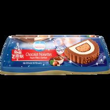 Bûche glacée chocolat, noisette, NESTLE, 540g
