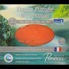 Truite fumée de France salée au sel de l'Ile de Ré MAISON PENEAU, 120g
