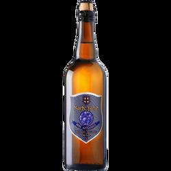 Bière brune, MELUSINE, barbe bleue, bouteille de 75cl