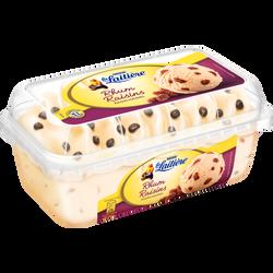 Crème glacée saveur rhum raisins et raisins macérés LA LAITIÈRE, pot de 510g