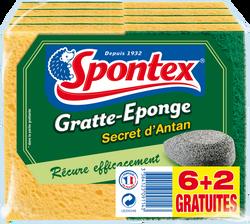 Gratte éponge secret d'antan SPONTEX, x6 + 2 gratuits