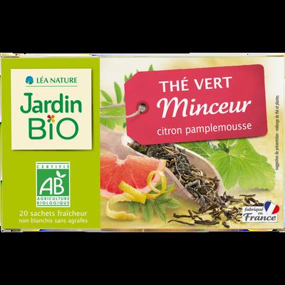 Thé vert minceur JARDIN BIO, 20 sachets, 30g