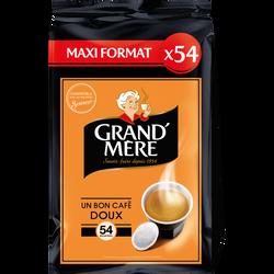 Café Dosettes GRAND MERE Doux - Compatible SENSEO -  x54