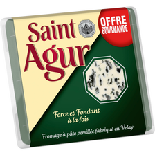Saint Agur Fromage Pasteurisé À Pâte Persillée 33%  Portion 135g Offregourmande
