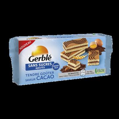 Goûter au cacao sans sucre ajouté GERBLE, 250g