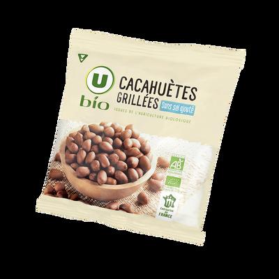 Cacahuètes grillées sans sel ajouté U BIO 100g