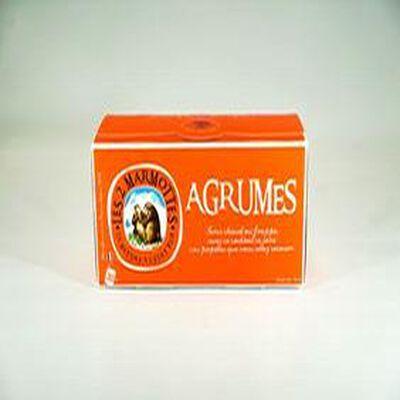 Agrumes, infusion 30 sachets, les 2 marmottes