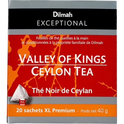 Thé noir de Ceylan valley of kings DILMAH, sachet de 40g