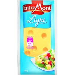 EMMENTAL light lait pasteurisé 8.50% de MG, portion de 250g