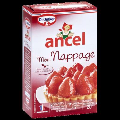 Nappage pour tarte, ANCEL, 3 sachets de 39g