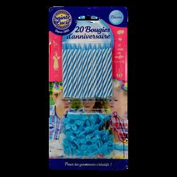 Bougies bleues SAINTE LUCIE, x20