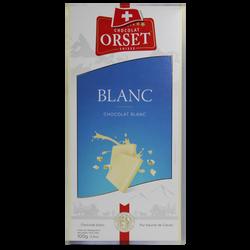 Tablette de chocolat blanc ORSET, 100g