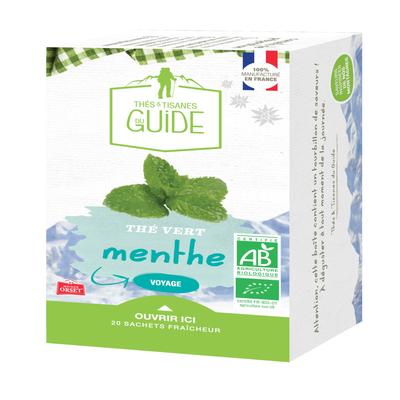 Thé vert à la menthe bio TISANE DU GUIDE, x20 soit 36g