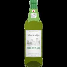 Vin blanc AOP  Entre-Deux-Mers Villecour de Maleyres U, bouteille de 75cl