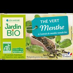 Thé vert extrait de menthe Nanah bio JARDIN BIO 30g