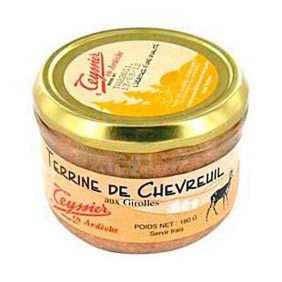terrine de chevreuil aux girolles teyssier 180g