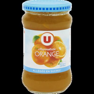 Marmelade d'orange allégée U, pot de 335g